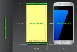 Samsung Galaxy S8 Plus dimensioni