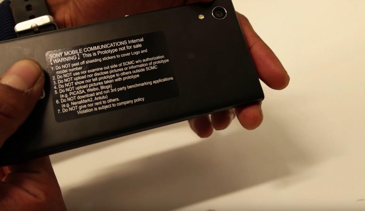 Sony Xperia XA 2017 prototipo de video