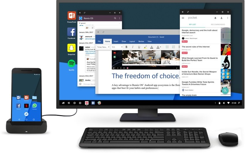 Jide Remix OS for Mobile