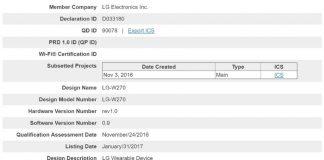 LG Watch certificazione