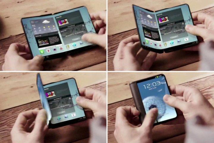 samsung teléfono inteligente plegable