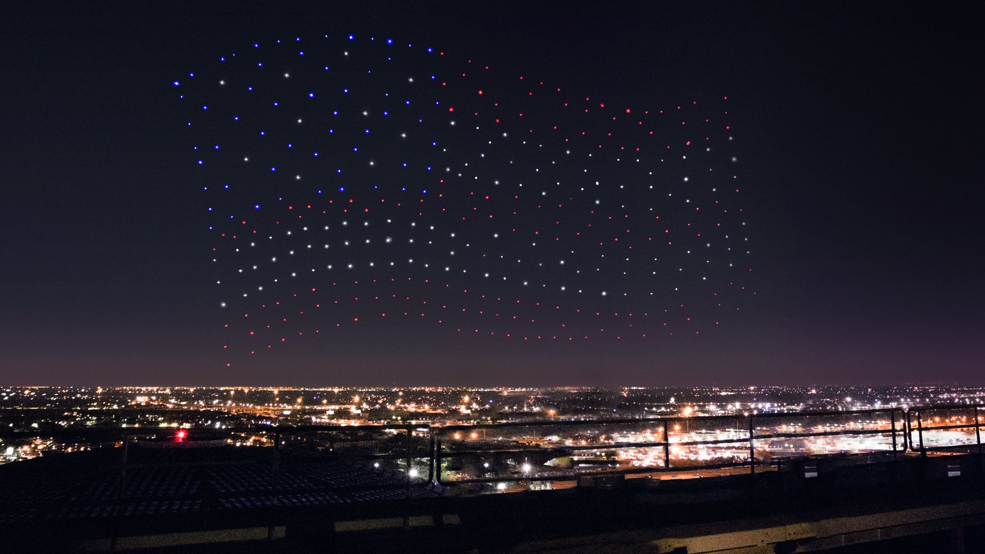 Intel Drone Shooting Star Super Bowl Lady Gaga