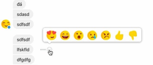 Facebook Reazioni Messenger