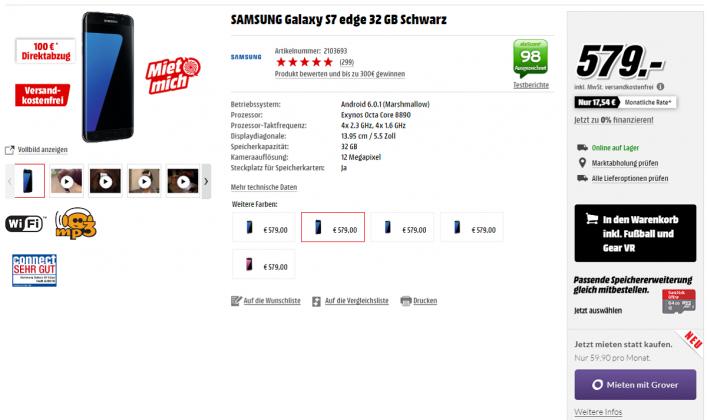 Samsung Galaxy S7 Edge MediaMarkt