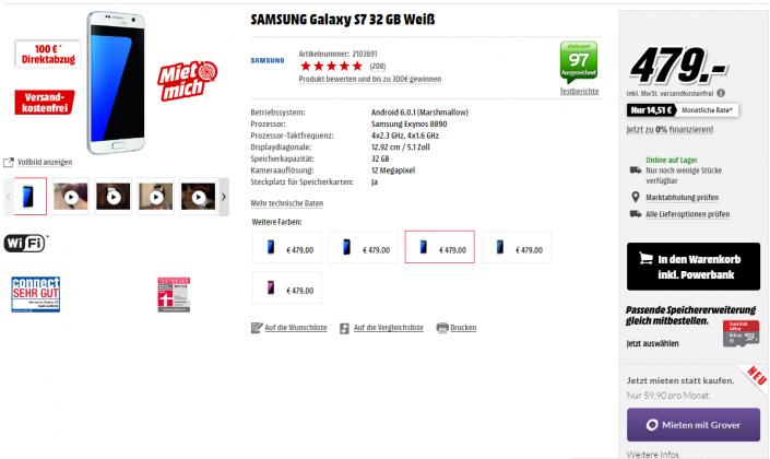 Samsung Galaxy S7 MediaMarkt