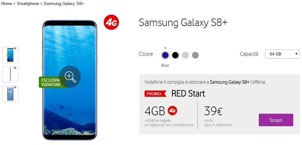 Samsung Galaxy S8 + Vodafone RED 3