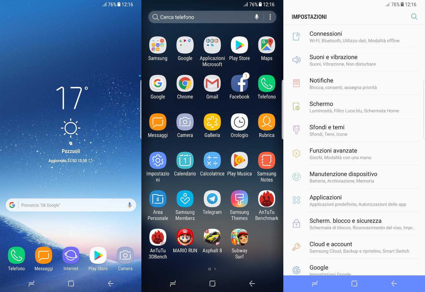 Samsung Galaxy lanzador s8