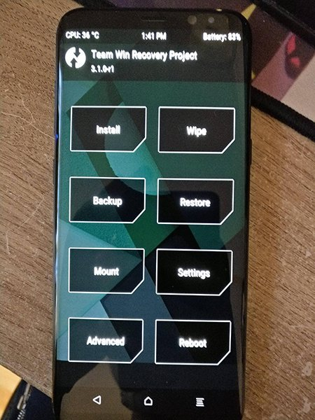TWRP Samsung Galaxy S8+