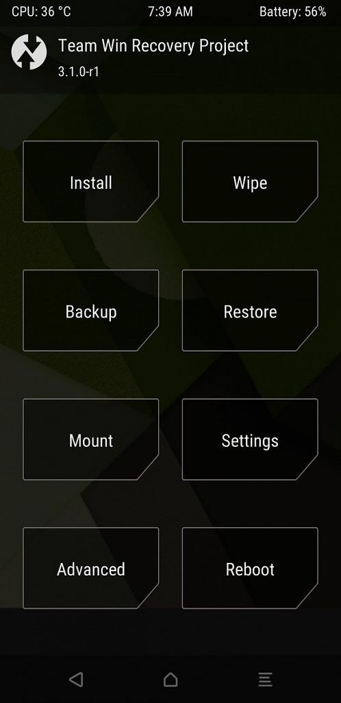 TWRP recovery for Samsung Galaxy S8+