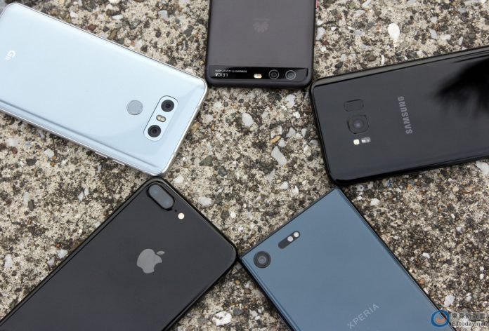 apple iphone 7 plus samsung galaxy s8+ lg g6 huawei p10 sony xperia xz premium