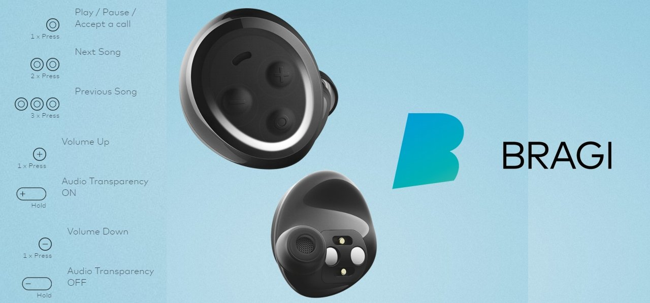 Bragi - The HeadPhones - Recensione GizBlog - Controlli