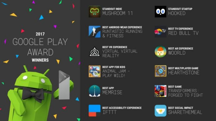 Google Play Award Winners 2017: the best 12 games and apps