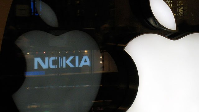 патенты на Nokia Apple