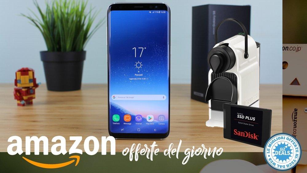 Offerte Amazon - Samsung Galaxy S8 - SSD - Nespresso