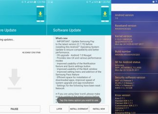 samsung galaxy note 5 nougat