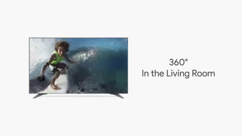 youtube 360° smart tv