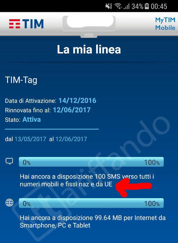 TIM roaming europa gratis