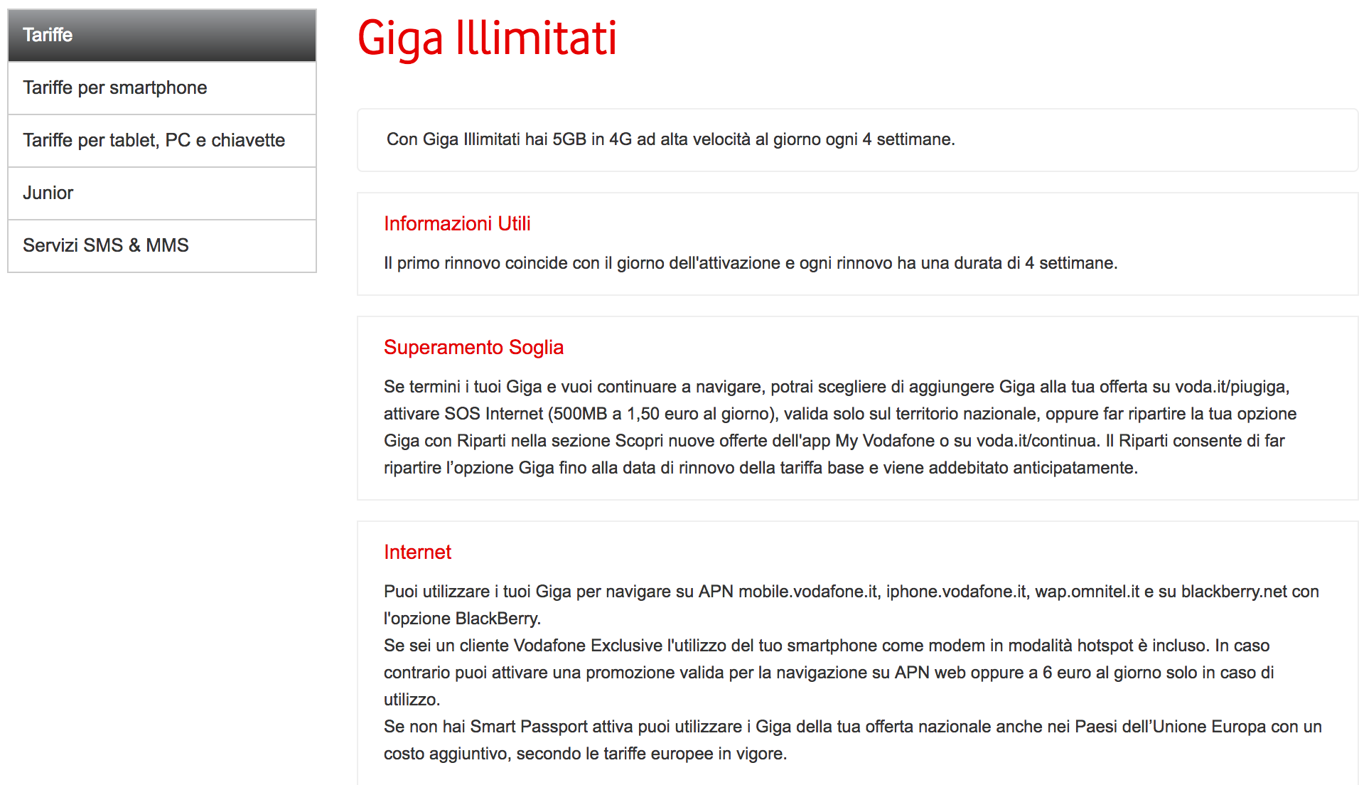 Vodafone Giga Unlimited