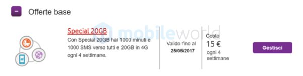 Vodafone Special 1000 20 GB