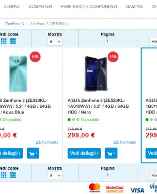 ASUS ZenFone 3 offerta