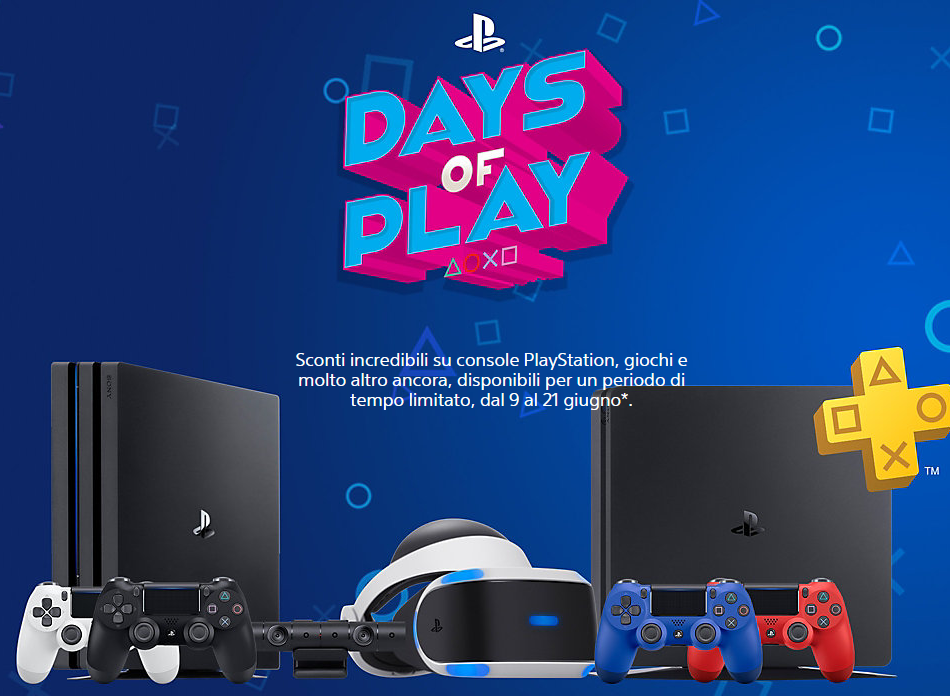 Days of Play PlayStation 4 Amazon offerta Amazon PS4