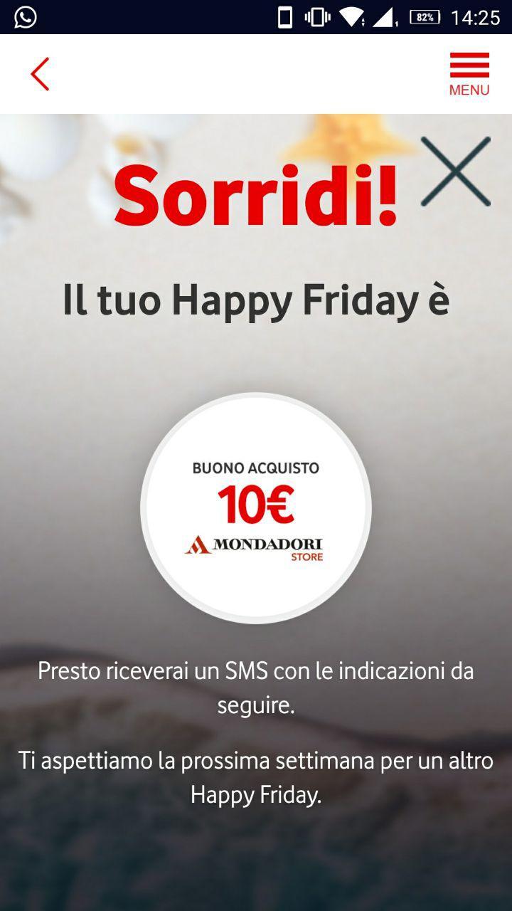 Vodafone Happy Friday Mondadori Store