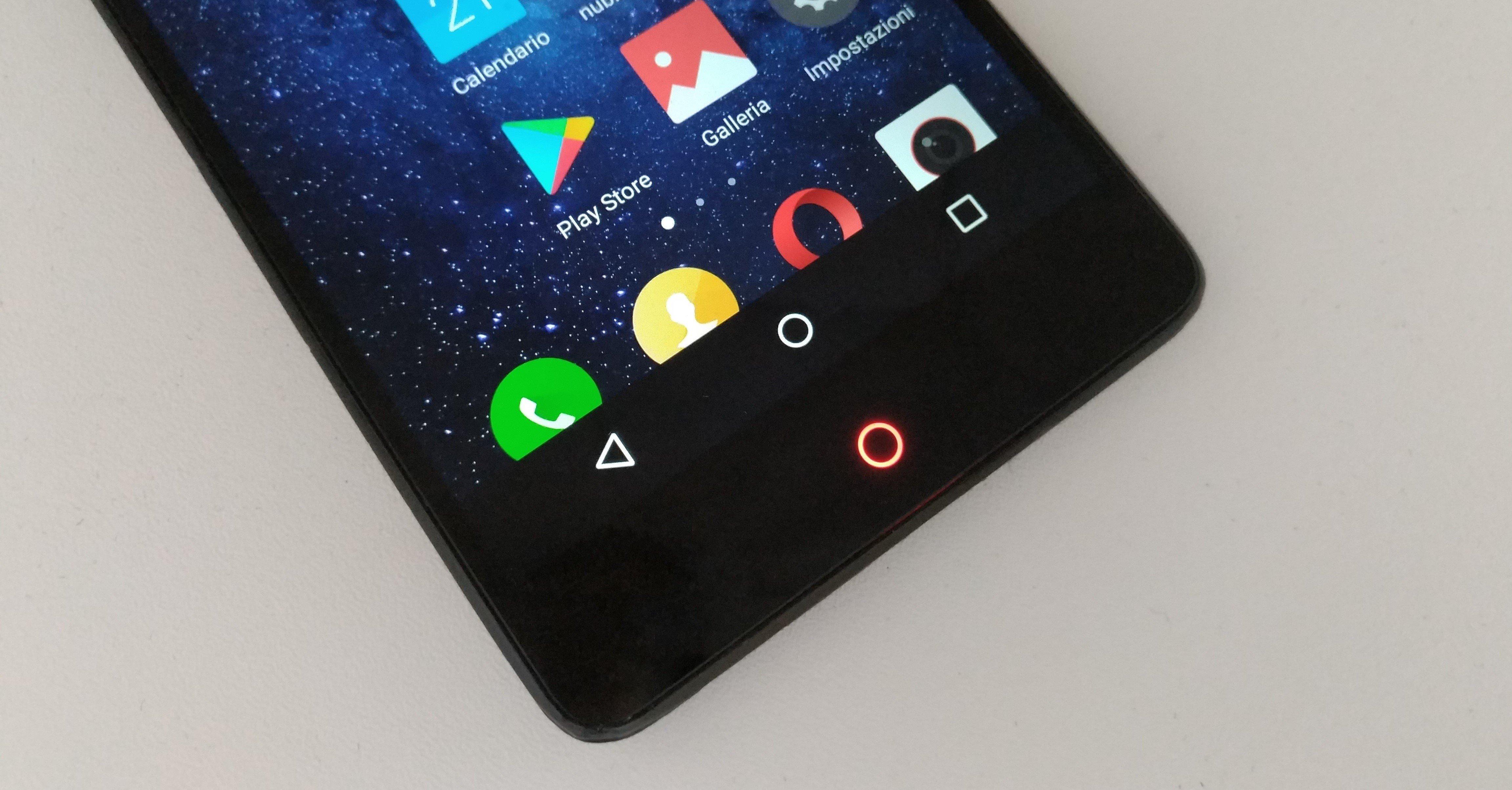abilitare tasti di navigazione su schermo