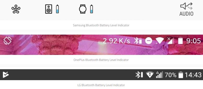 Аккумулятор Android устройства Bluetooth