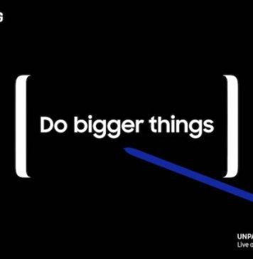 Samsung Galaxy Note 8 invito presentazione