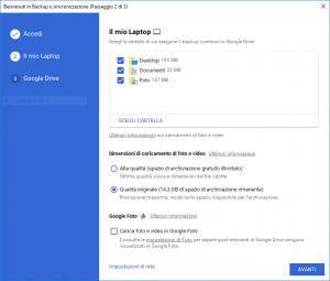 Backup and sync google drive