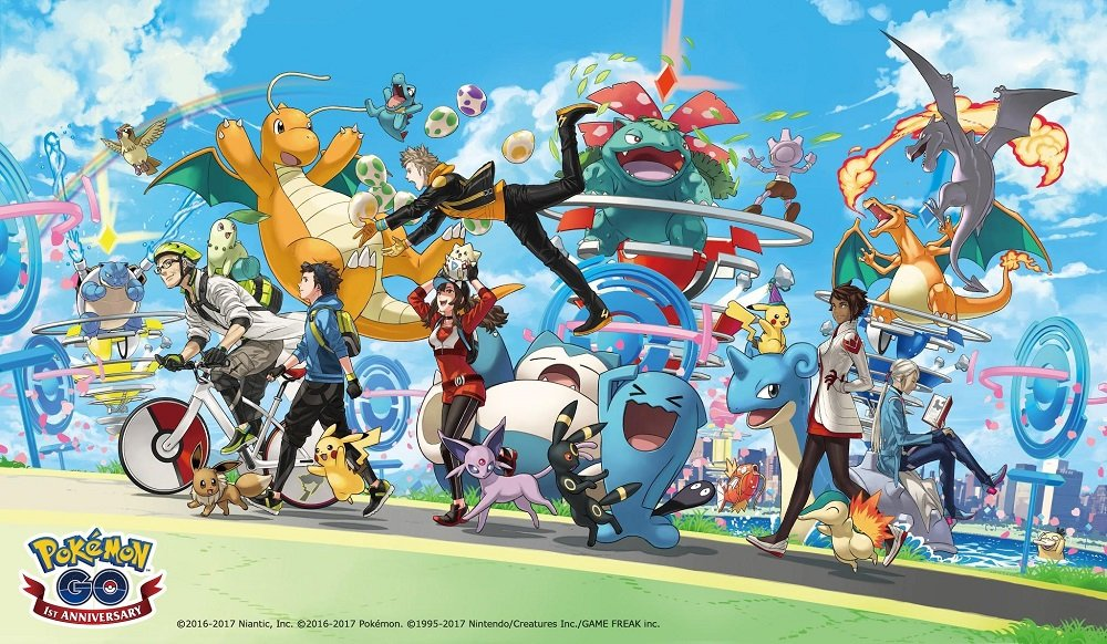 Pokémon GO: disponibile l'evento anniversario