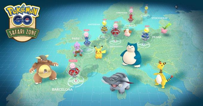 Pokémon GO Safari Zone Eventos eliminados