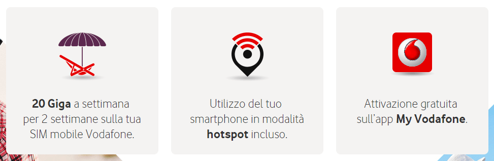 Vodafone Giga Vacanza