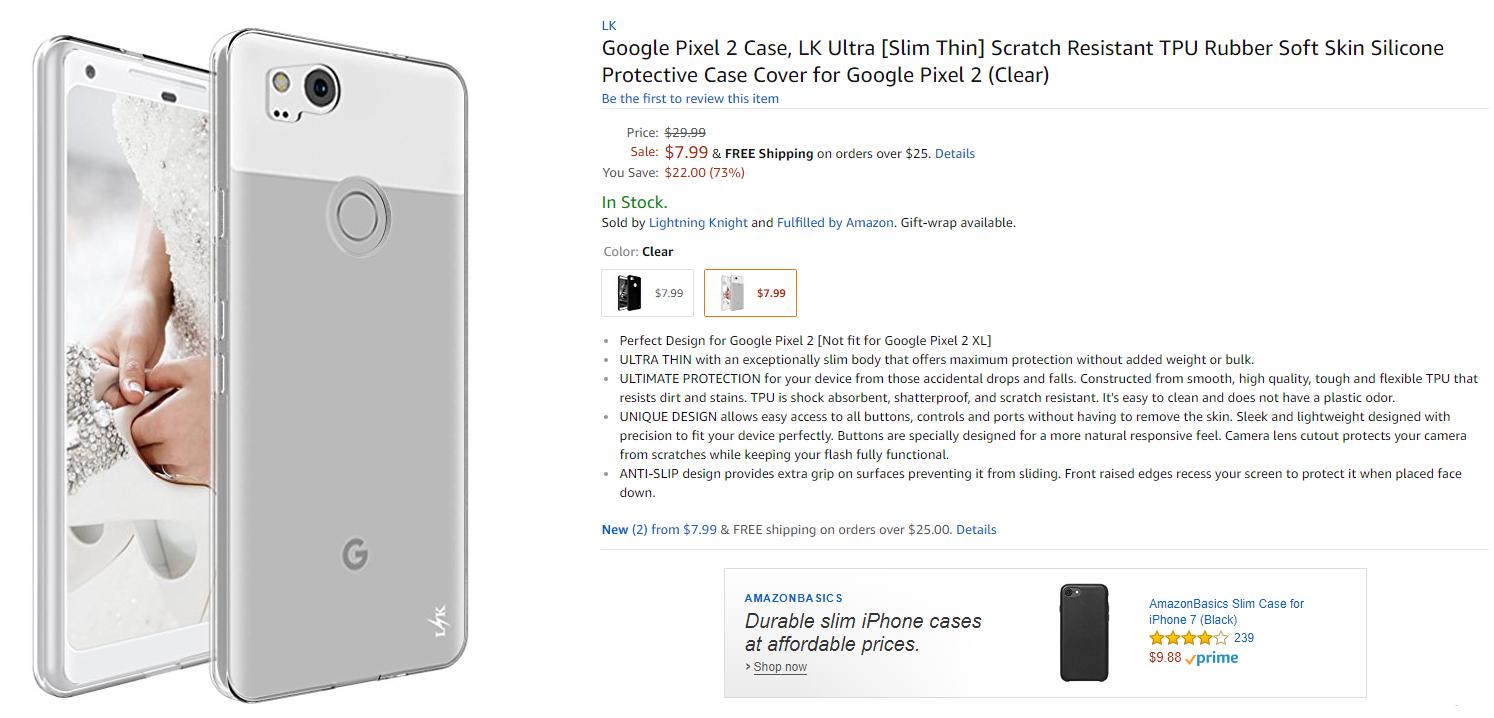 google pixel 2 cover amazon