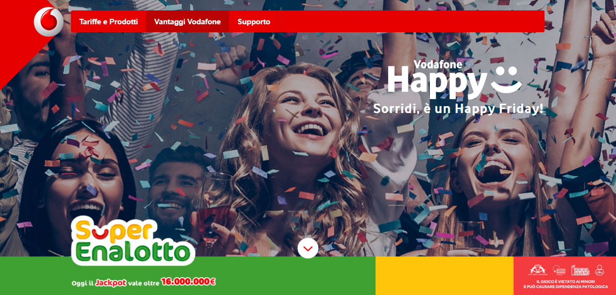 Vodafone Happy Friday SuperEnalotto