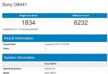 Sony Xperia XZ1 Compact Geekbench Android 8.0
