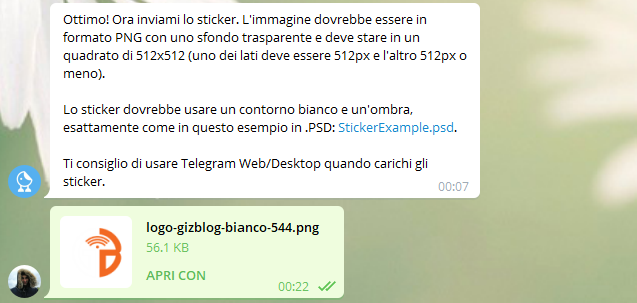 Come creare sticker e maschere su Telegram
