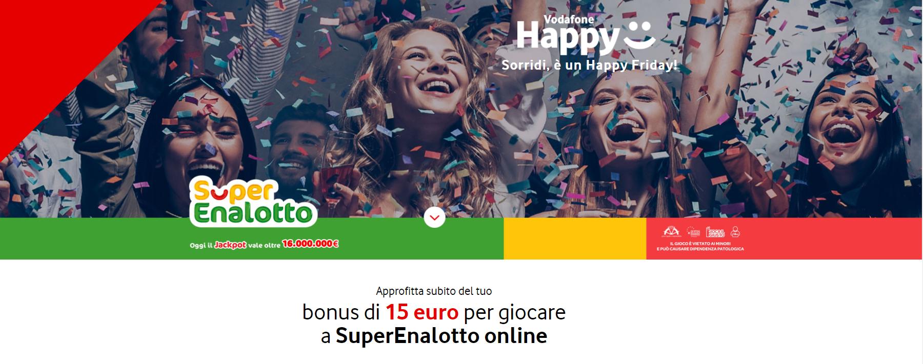 vodafone happy friday superenalotto banner