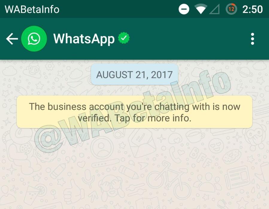 WhatsApp的业务验证