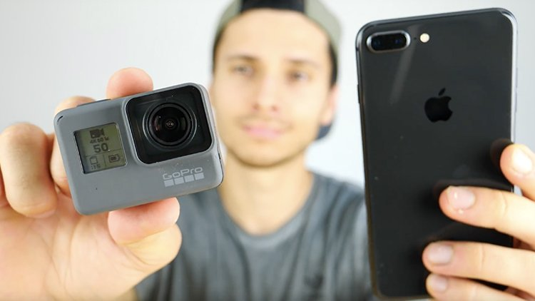 apple iphone 8 gopro hero 6