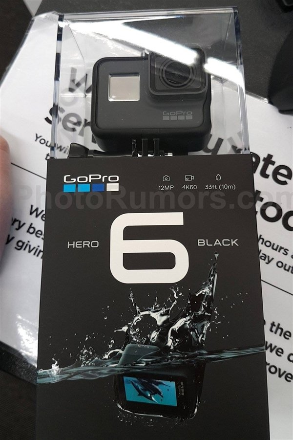 GoPro Hero 6 Black Edition foto 4K 60 FPS