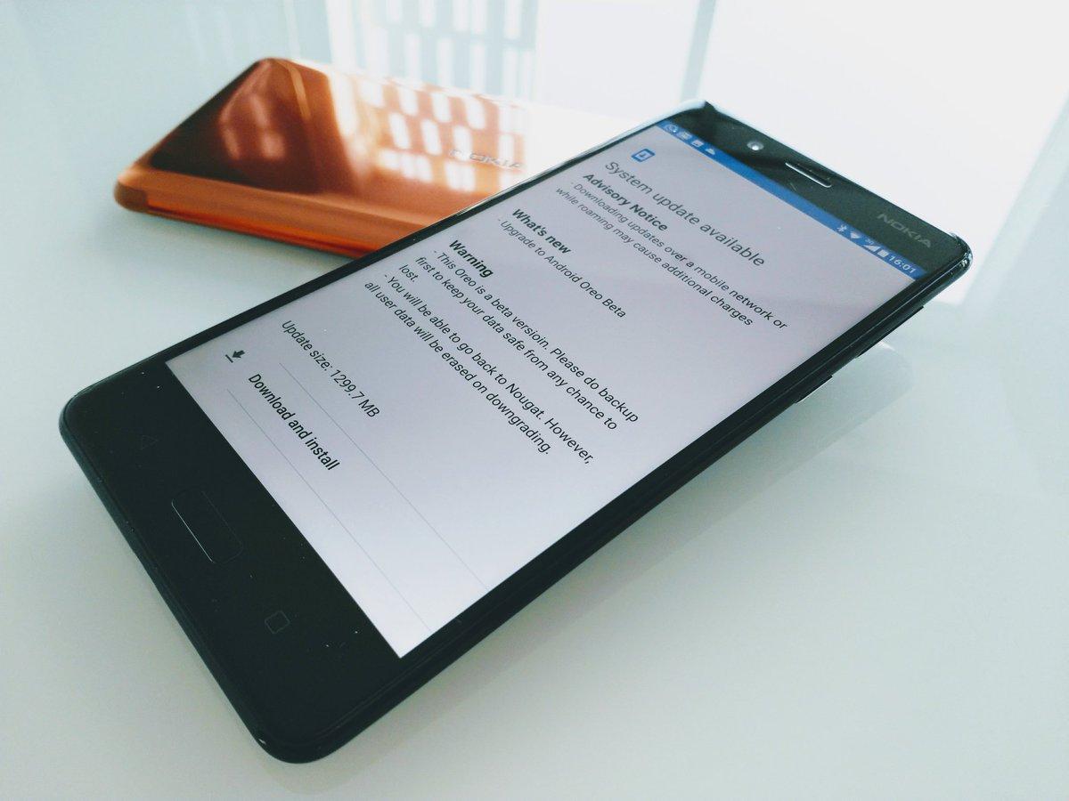Nokia 8 Adroid 8.0 Oreo aggiornamento download