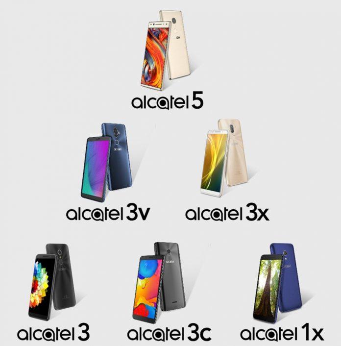 Alcatel smartphone line-up 2018