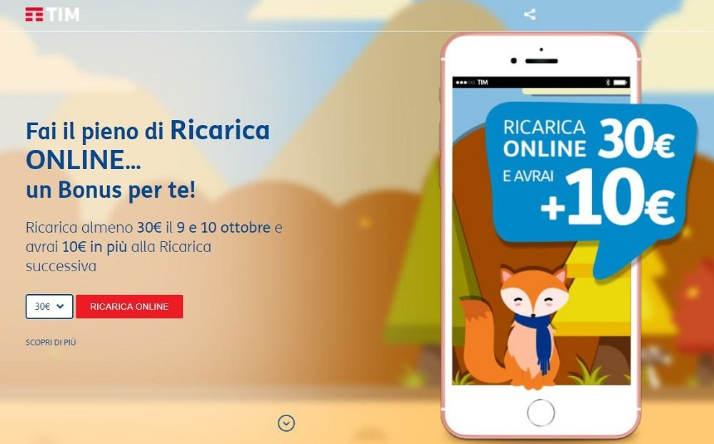 Offerta TIM Ricarica Online