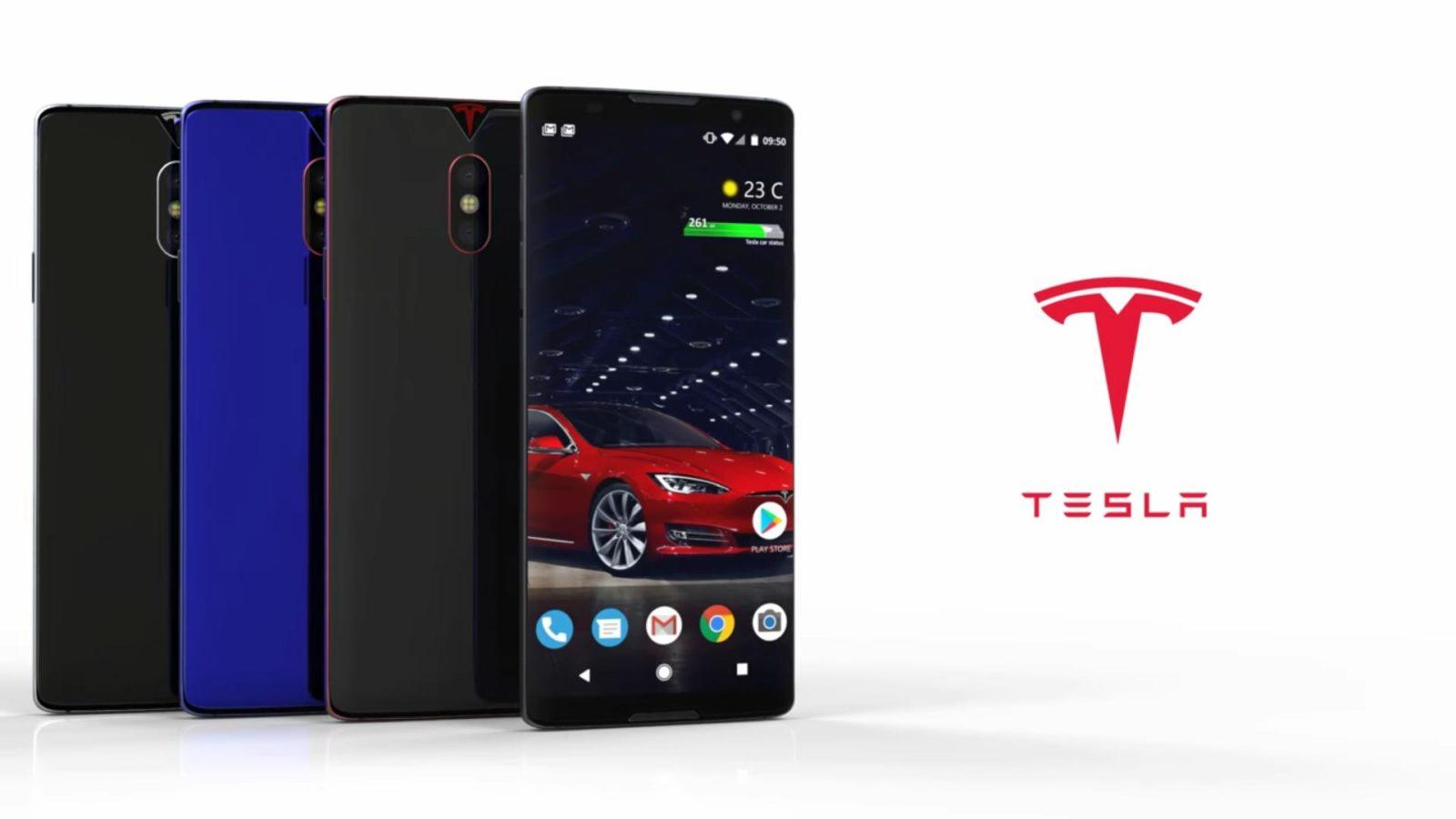 Tesla Phone Concept foto