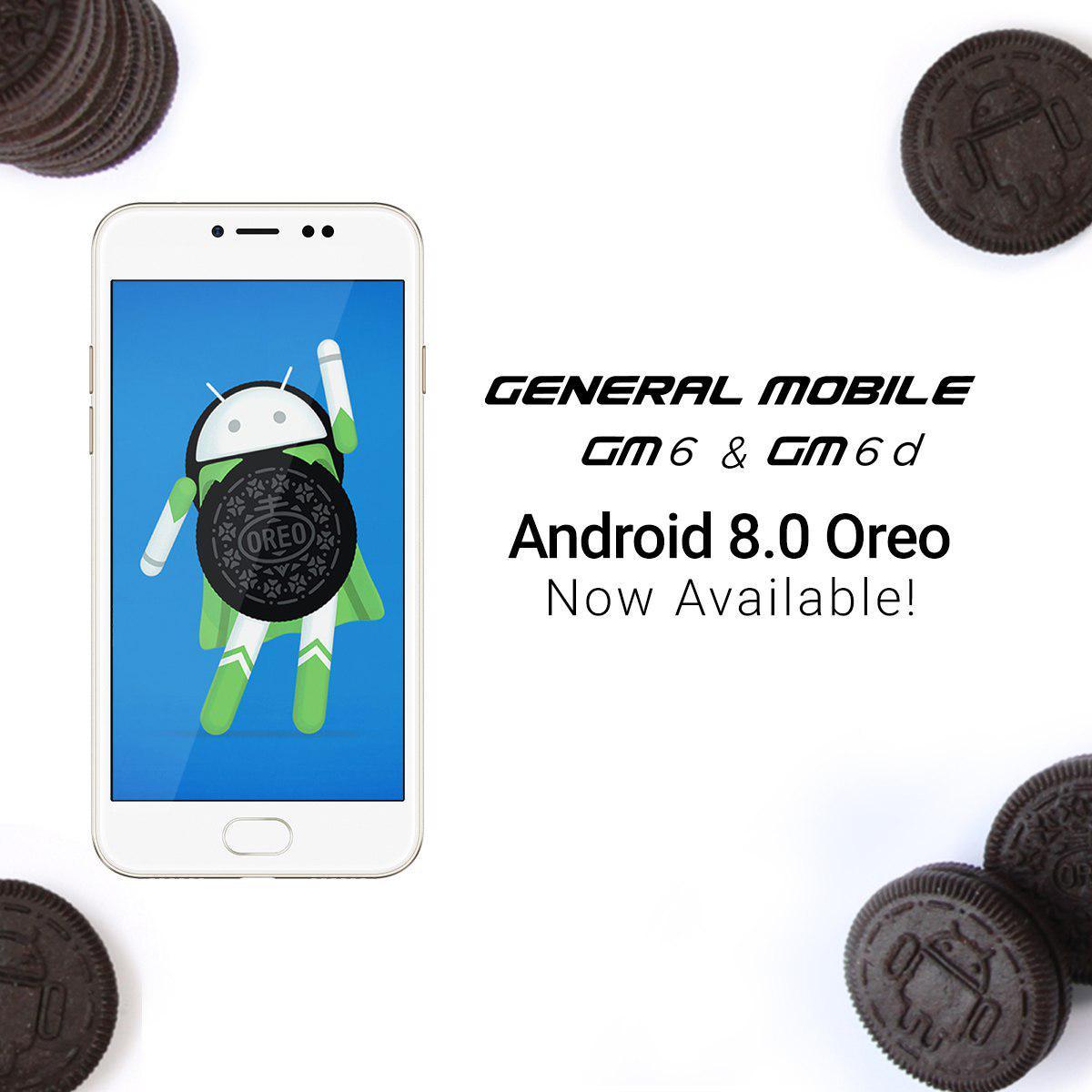general mobile aggiornamento android 8.0 oreo