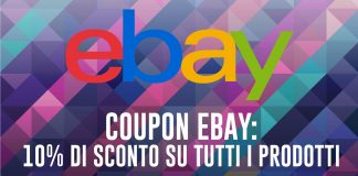 Coupon eBay per Natale: 10% di sconto su tantissimi prodotti!