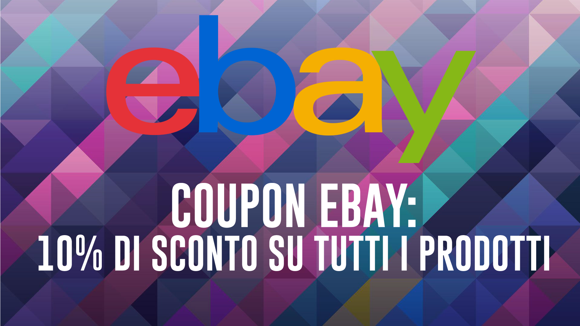 EBay coupons for Christmas: 10% discount on many products!