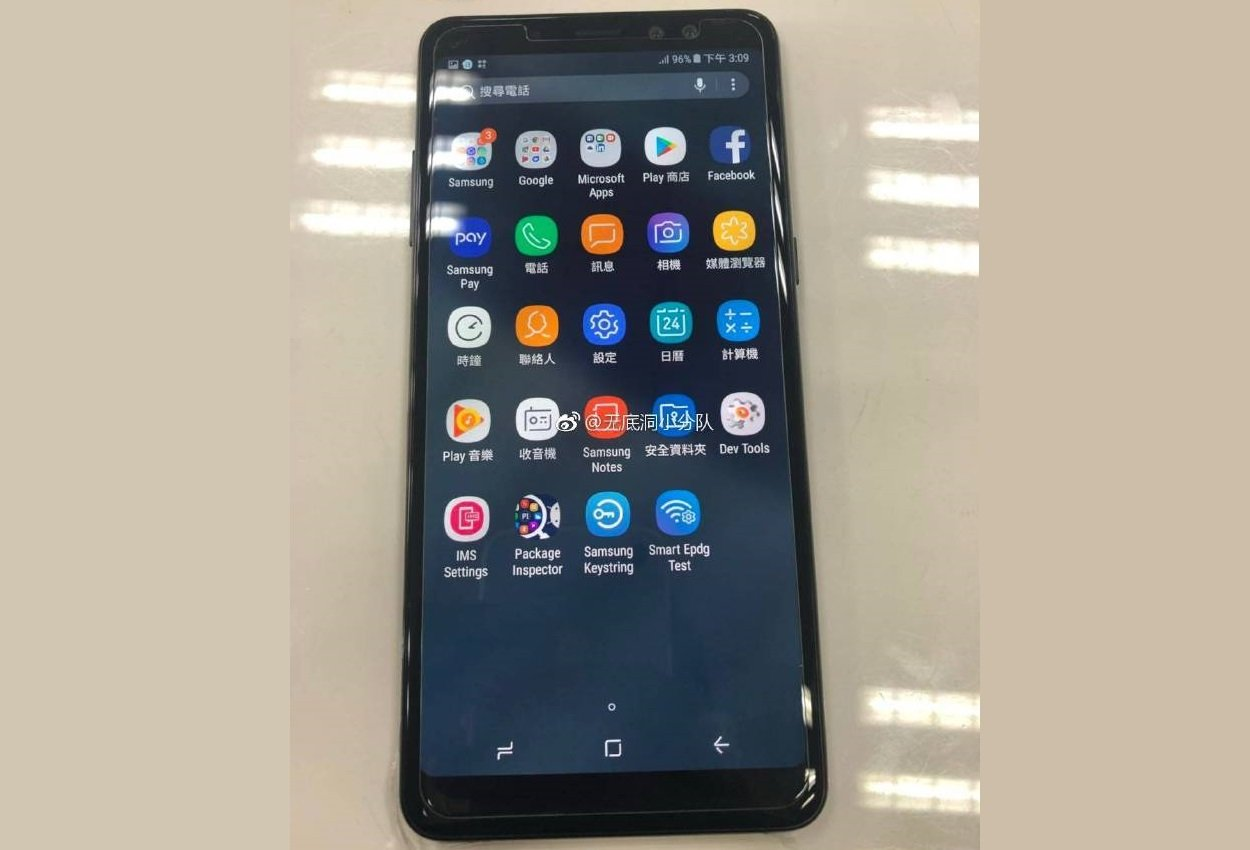 Samsung Galaxy A8 + 2018: the unpublished phablet shows