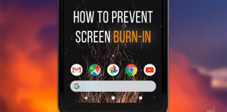 come prevenire il burn-in display oled